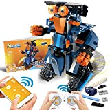 POKONBOY Building Blocks Robot Kit for Kids,App Controlled STEM Toys Science Engineering Kit DIY Building Robot Kit STEM Robotics for Teens Boys Girls to Build Age of 8-14(Blue)