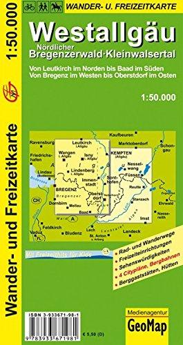 Wanderkarte Westallgäu 1:50 000 (Geo Map)
