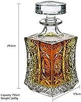 WYL ウイスキーデキャンタクリスタルガラスデカンタ家庭用ワインスパークリングボトルウィスキーボトル (Color : A750ml)