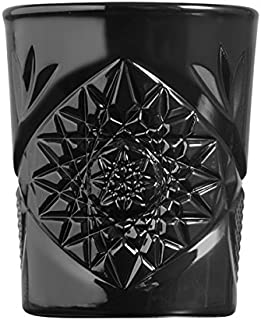 Libbey - Hobstar - Whiskyglas, Wasserglas, Saftglas - Schwarz - 1 Stück - 350 ml