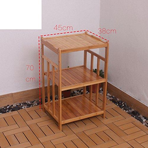 Bamboe magnetron rekken in de keuken / rekken / vloer tot aan het plafond hout meerlagige opslagrek / badkamer-A