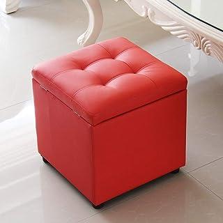XBCDX Cube Faux Cuir Ottoman Rangement Pied Tabouret Pouf Banc Siège, Boîte À Jouets Organisateur Boîte Pouf Coffre Siège ...