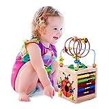 BeebeeRun Actividad de Madera Cubo 6 en 1 Juguete de Madera Educativo para niños pequeños y...
