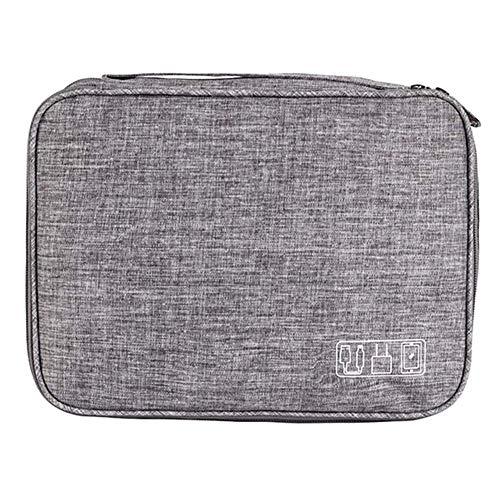 regendag multifunctionele draagbare digitale opslag zak, drie-laags kabel tas datakabel opslag zak, oplader, mobiele kracht, geheugenkaart, oortelefoon en tablet