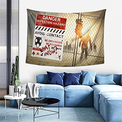 Walking Dead Zom-Bies Dan-Ger Tapiz de pared de 152,4 x 101,6 cm, para dormitorio y sala de estar, para decoración del hogar, regalos de Navidad