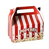 Hammont Paper Treat Boxes -10 Pack- Party Favors Treat Container Cookie Boxes Cute Designs Perfect for Parties and Celebrations 6.25' x 3.75' x 3.5' (Popcorn)