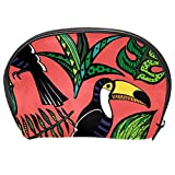 TIZORAX - Neceser de viaje con hojas de tucán tropical, diseño de hojas de...