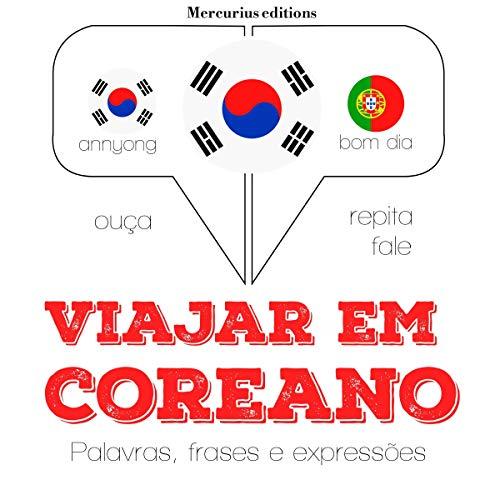 Diseño de la portada del título Viajar em coreano