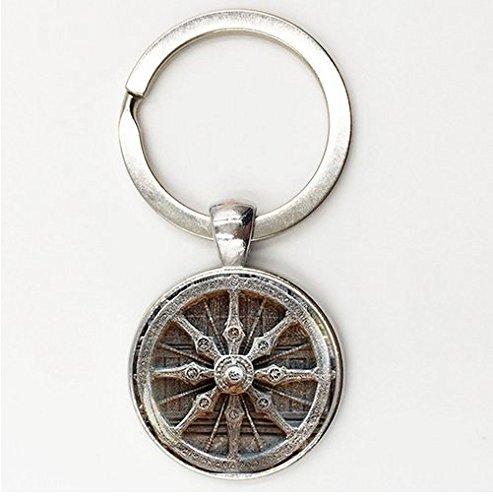 Geometría Sagrada Cristal Gem clave cadenas Yoga, Mandala, titular de la clave, hecho a mano joyas budista, llavero
