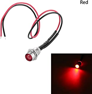 Red/&Blue/&Green Turn Light-Green 12V 14mm LED Dash Panel Warning//Fog Turn Light Signal Indicator Light for Bike Car Boat Lamp