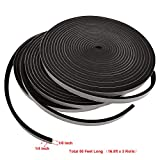 Rubber Insulation Foam Tape Self Adhesive Weather Stripping 1/4 Inch Wide X 1/8 Inch Thick High Total 50 Feet Long (16.5ft x 3 Rolls)