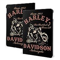 """ラッキードア タブレットケース Ipad ケース Harley-Davidson ハーレーダビッドソン 高級puレザー カバー Ipad 7th 10.2インチ Ipad Air3 & Pro 10.5インチ 全面保護 レザーケース バックカバー 軽量 薄型 スタンドカバー スマートカバー Ipad Air3 10.5"""""""