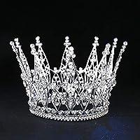 ファッションページェント花嫁ティアララインストーン王冠ヘアアクセサリーウェディングヘアジュエリーショードレス頭飾り女王王冠ウェディング