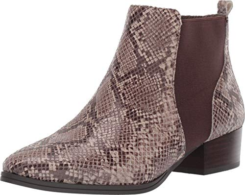 Aerosoles Women's Criss Cross Ankle Boot, Taupe Snake, 8.5 M US