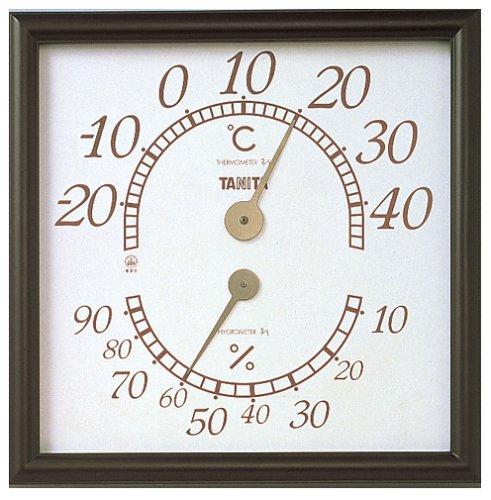 タニタ 温湿度計 温度 湿度 アナログ 壁掛け ブラウン 5485 オフィスキング オフィス用