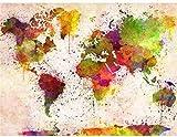 Rompecabezas De Madera 1000 Piezas Para Niños Y Adultos. Mapa Del Mundo Abstracto Puzzle Juego Feliz Familia Ocio Entretenimiento Decoración Regalo De Cumpleaños