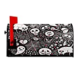 FeiHuang Ghost Skull Cat Spider Monster Mailbox Cover Magnetic Oversized,Halloween Christmas Letter Post Box Cover Wrap Decoration Home Garden Outdoor