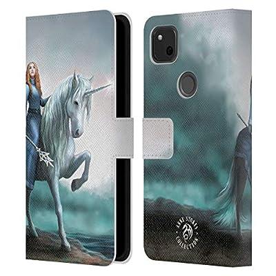 Head Case Designs Licenciado Oficialmente Anne Stokes Comienzo de los Viajes Unicornios 2 Carcasa de Cuero Tipo Libro Compatible con Google Pixel 4a