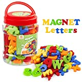 Coogam Magnetic Letters Numbers Alphabet Fridge Magnets Colorful Plastic ABC 123 Educational Toy Set Preschool Learning Spelling Counting Uppercase Lowercase Math Symbols for Kid Toddler (78 Pcs)