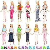 Miunana 15 Pcs Vêtements Accessoires De Poupée 5 Vêtements Vestes Pantalons & 10 Paires de Chaussures Aléatoire Pour Poupée Filles de 11,5 Pouce