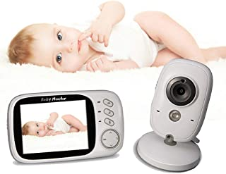 Baby Monitor with Camera and Audio Voice Intercom Built-in Night Light Vox Mode 2.4G Wireless Digital Signal Transmission ...