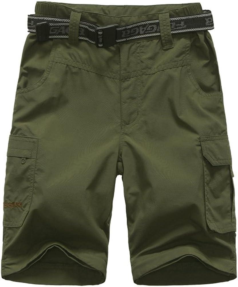 JOMLUN Boys Casual Quick Dry Outdoor Convertible Trail Pants Hiking Climbing Trouers Kids Cargo Pants