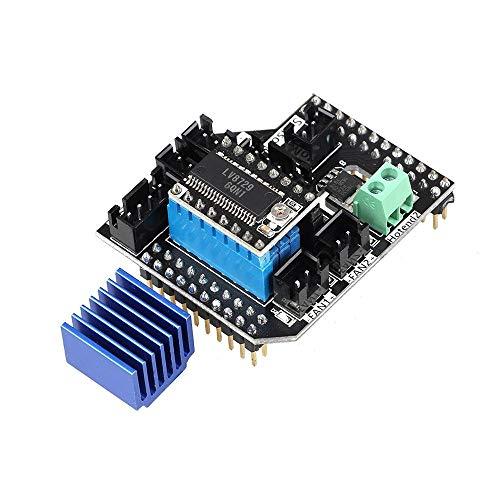 KASILU YHJ322 Twofold Extruder-Modul 2 in 1 Out / 2 IN2 Out-Modul mit LV8729 Schrittmotor-Treiber für 3D-Drucker Lerdge-S-Karte Hochleistung