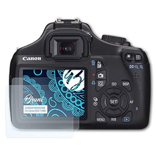 Bruni Pellicola Protettiva compatibile con Canon EOS 1100D / Rebel T3 Pellicola Proteggi, cristallino Proteggi Schermo (2X)