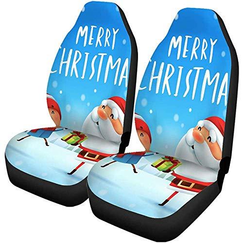 XZfly Fundas para asientos de automóvil Feliz Navidad Papá Noel que da...