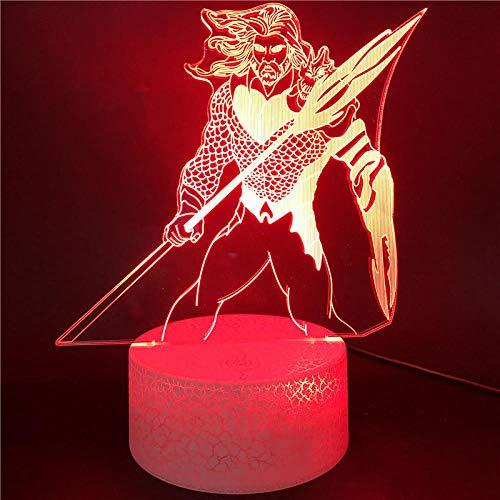 3D Illusion LED Lampe Nachtlicht Fernbedienung Gerechtigkeit Liga Aquaman Figuren Juguetes 7 Bunt wechselndes Nachtlicht DC Superhelden Modell Geschenke Von Tischlampe