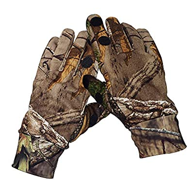 Eamber Camouflage Hunting Gloves Full Finger/Fingerless Gloves Pro Anti-Slip Camo Realtree Glove Archery Accessories Hunting Outdoors (M) (L) (L)