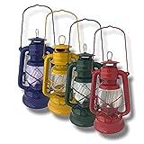 Nostalgie Mini 23cm Öllampe inkl. Docht | Petroleumlampe | Sturmlaterne | Öllaterne | Tischlampe | Sturmlampe mit Glaskolben und Tragebügel