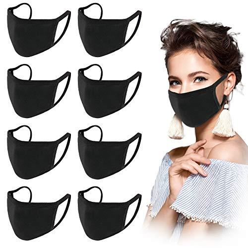 8 Stück Unisex Atmungsaktiver Mundschutz Waschbar Wiederwendbar Gesicht