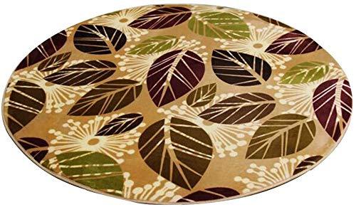 GQY Home en Vrijetijdsvloerkleed - Hotel deurmat deurmat decoratief tapijt - ronde badmat fitness deken (grootte: 120 * 120cm)