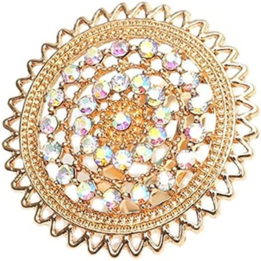 Big Round Hollow Statement Ring Vintage Boho Style Rings Expandable Open Wrap Finger Rings Antique Mosaic Crystal Rings Adjustable Comfort Fit Exaggerated Rings Jewelry for Women Girls