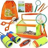 Lehoo Castle Draussen Forscherset für Kinder - 23 Stück Adventurer Spielzeug mit Kinder fernglas Insect Critter Käfig, Kompass Taschenlampe Lupe...