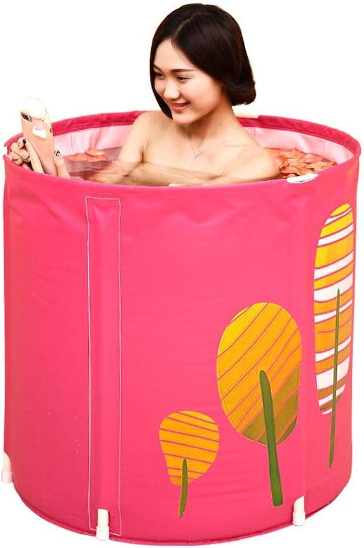 GYZ Faltbare Plastikbadewanne, tragbare, unabhngige, nach Hause verdickte Badewanne, eingebautes Komfortkissen, Keine aufblasbare, runde Badewanne, Babyschwimmen Aufblasbarer Whirlpool (Farbe   A)