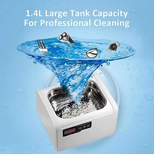 MLSJM 1.4L Haushaltsreinigungsmaschine, Schmuck Reinigungsmaschine Für Brillen Ring Uhren Razors Zahnersatz, Multifunktions Waschmaschine