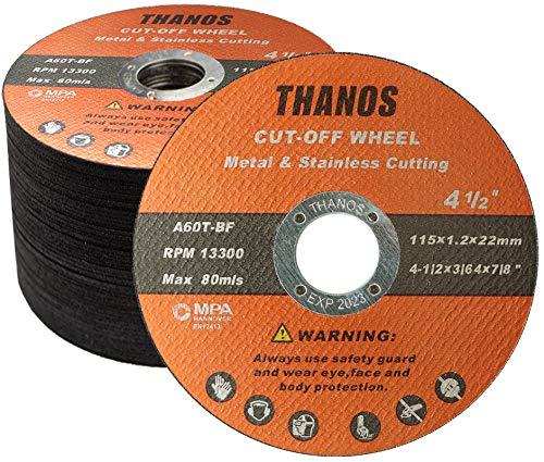 Steel Iron and INOX Cut Off Wheel with 5000+ Cuts on Rebar EZARC Diamond Cutting Wheel for Metal 4-1//2 x 7//8 Inch