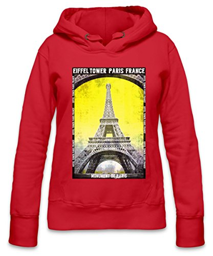Eiffel Tower Paris France Womens Hoodie X-Large
