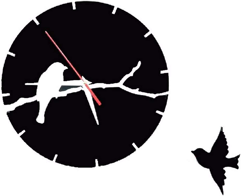 21King Wall Clock, Silent Movement, Wall Decoration Clock, Black