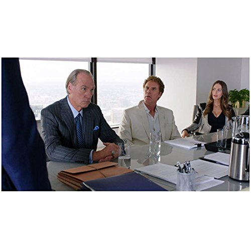 Will Farrell 8 inch x 10 inch Photograph Get Hard (2015) Seated Between Craig T. Nelson & Alison Brie at Conference Table kn