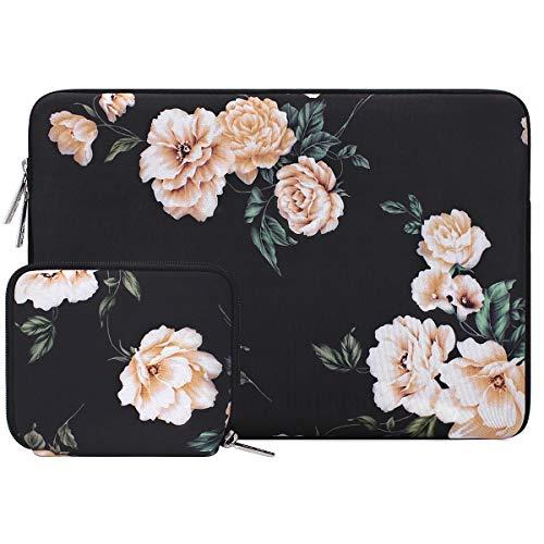 MOSISO Laptop Hülle Kompatibel mit 13-13,3 Zoll MacBook Pro, MacBook Air, Notebook Computer, Wasserabweisende Neopren Kamelie Tasche mit Klein Fall