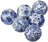 Oriental Furniture 3' Blue & White Decorative Porcelain Ball Set(B)