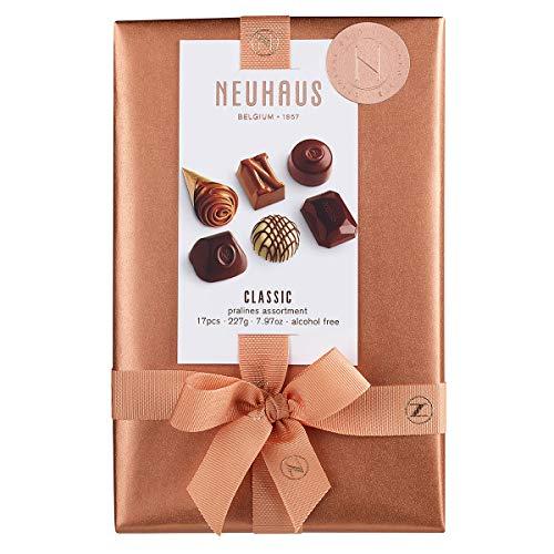 Neuhaus Belgian Chocolate Classic Pralines Assortment Ballotin - 1/2 lb , Premium Chocolate Gift Ballotin Box , Gourmet Milk, Dark, White Chocolate Praline Assortment, 17 count