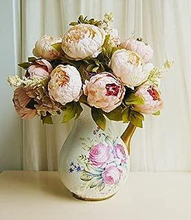 Seasofbeauty European Peony bouquets Decorative Silk Artificial Flowers Home Wedding Furnishing