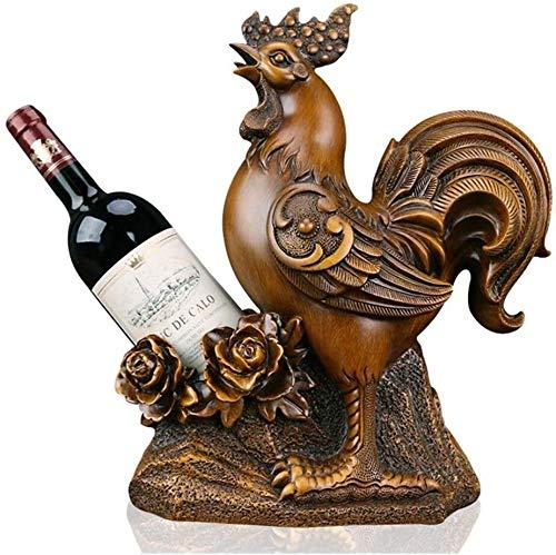 YYhkeby Huangjiahao Wein-Speicher-Halter Statue Skulpturen Wohnkultur Harz-Tierweinregal Art Craft Büro-Schreibtisch-Dekoration for Küche Bar Start (Farbe: Braun, Größe: Eine Größe) Jialele