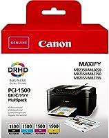 Canon PGI-1500 BK/C/M/Y 12.4ml Nero, Ciano, Magenta, Giallo cartuccia d'inchiostro