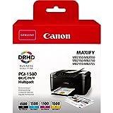 Canon PGI-1500 Cartouche BK/C/M/Y Multipack Noir, Cyan, Magenta, Jaune (Multipack...