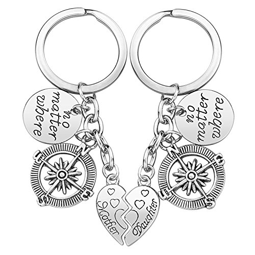 Mother Daughter Gift Keychain - 2PCS Mom Daughter Gift Set for Birthday Christmas, Mom Gifts,...